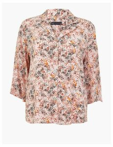 M&S Collection Printed 3/4 Sleeve Shirt
