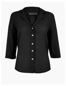 M&S Collection Button Detailed 3/4 Sleeve Shirt