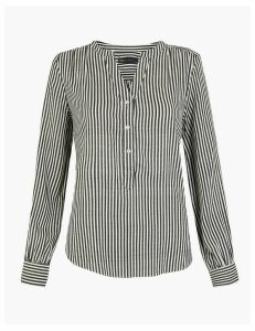 M&S Collection Striped Popover Blouse