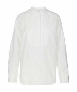 Bobble Detail Cotton Poplin Shirt