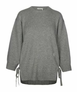 Side-Tie Knitted Cashmere Jumper
