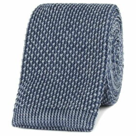 Gibson Navy And Grey Textured Knitted Tie