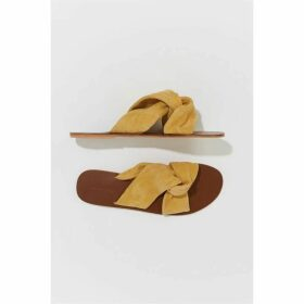 Warehouse Suede Knotted Sandals