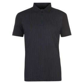 Armani Exchange Pinstripe Polo Mens