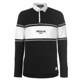 SoulCal Long Sleeve Rugby Polo Mens