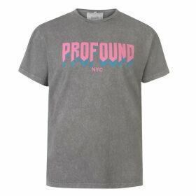 Profound Aesthetic Acid Wash Logo T Shirt