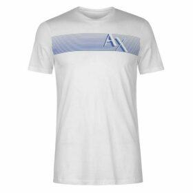 Armani Exchange Stripe Chest T Shirt