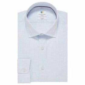 Richard James Hairline Check Dobby Slim Fit Shirt
