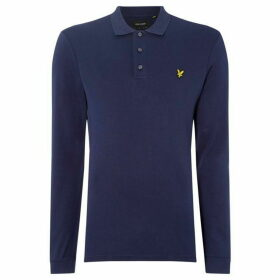 Lyle and Scott Jersey Long Sleeve Polo Shirt