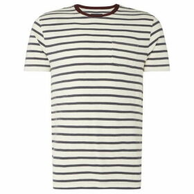 Criminal Contrast Striped Ringer T Shirt