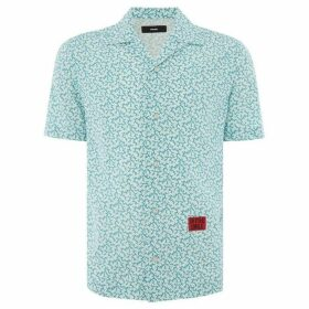 Diesel Short Sleeve Thorn Print Shirt