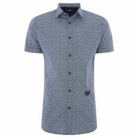 Diesel Short Sleeve Wave Print Shirt