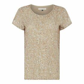Maison De Nimes Oyster Sequin T Shirt