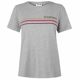 Noisy May Nate Stripe T Shirt