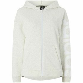 adidas Zip up logo hooded top