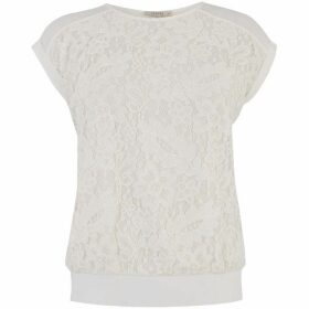Oasis Button Back Lace Tee
