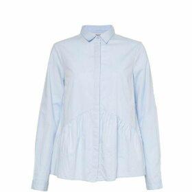 Great Plains Chambray Peplum Shirt