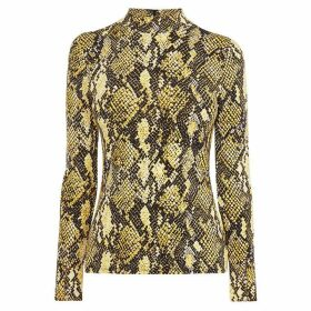 Karen Millen Snake Print High Neck Top