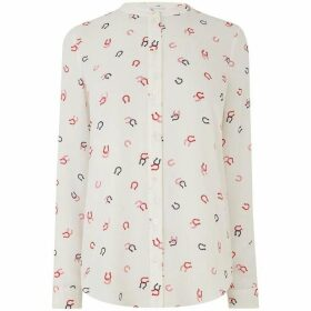 Warehouse Horse Shoe Print Blouse
