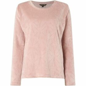 Biba Deco cut crew neck top