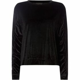 Label Lab Ruched sleeve velvet sweat