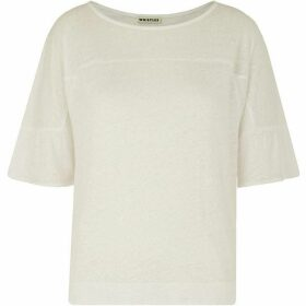 Whistles Frill Cuff Linen Tee