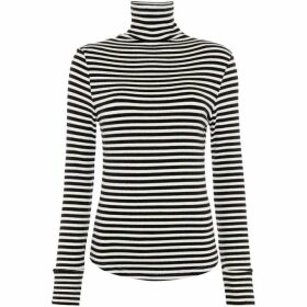 Suncoo Mino Striped Roll Neck Sweater