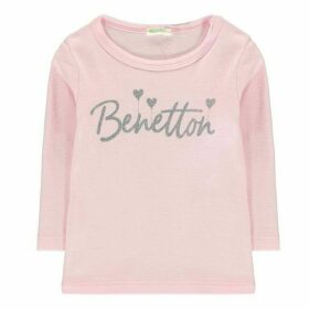 Benetton Heart Print T Shirt