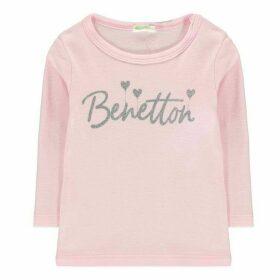 Benetton Heart Print T Shirt