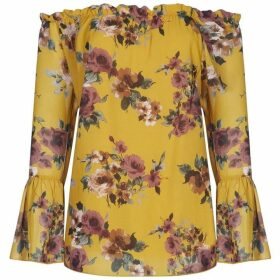 Mela Floral Printed Tie Up Blouse