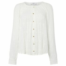 Suncoo Long Sleeves Embroidered Blouse