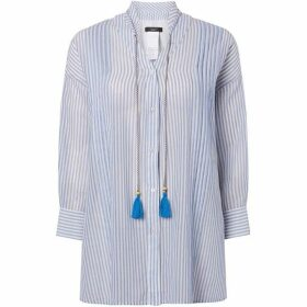 Max Mara Weekend Tattico tie neck blouse with stripe