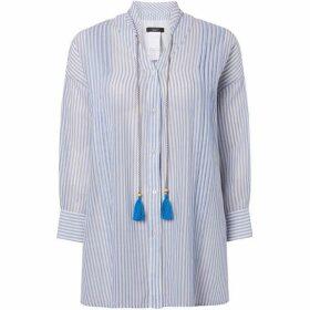 Max Mara Weekend Tattico tie neck blouse with stripe