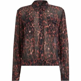 All Saints Adeliza Leopard Shirt