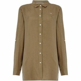 Crew Clothing Company Linen Solid Shirt