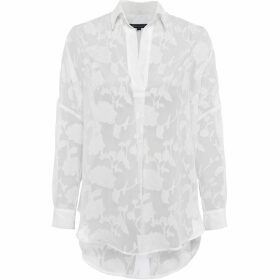 French Connection Clarita Fil Coupe Pop Over Shirt