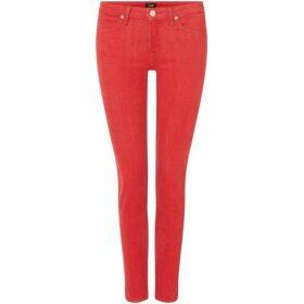 Lee Jeans Scarlett High Rise Skinny Jeans In Pop Red