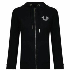 TRUE RELIGION Jersey Zip Hooded Sweatshirt