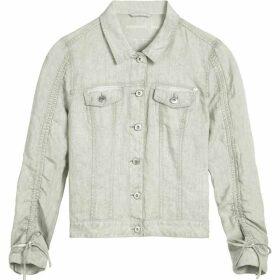 Sandwich Short Linen Jacket