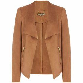 Biba Waterfall trim detail suedette jacket