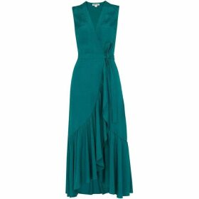Whistles Francesca Jacquard Wrap Dress