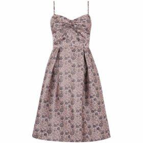 Oasis Twist front jacquard skater dress