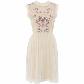 Frock and Frill High neck fit and flare dress