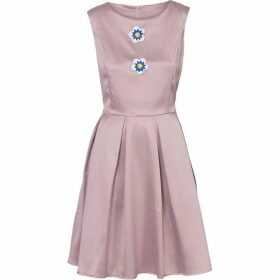 Carolina Cavour Dress With Fold And Flower Details