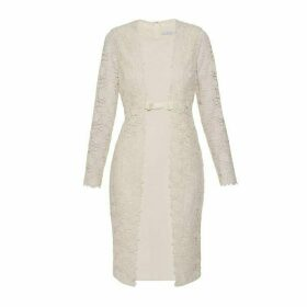 Gina Bacconi Summer Lace And Crepe Dress