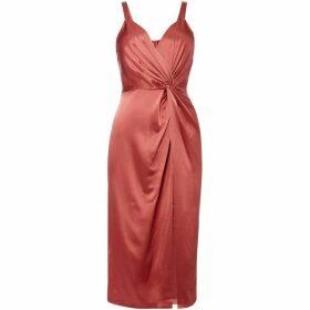 Jill Jill Stuart V neck knot front midi dress