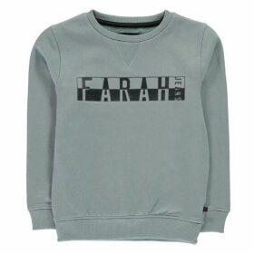 Farah Vintage Print Fleece Crew Sweatshirt