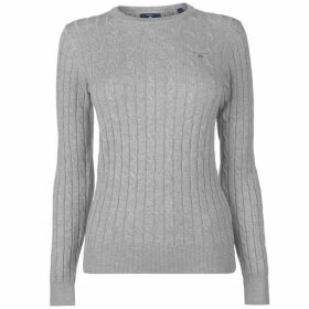 Gant Cotton Cable Knit Jumper Ladies