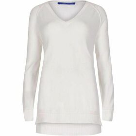 Winser London Cotton V Neck Jumper