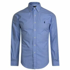 POLO RALPH LAUREN Gingham Poplin Slim Fit Shirt